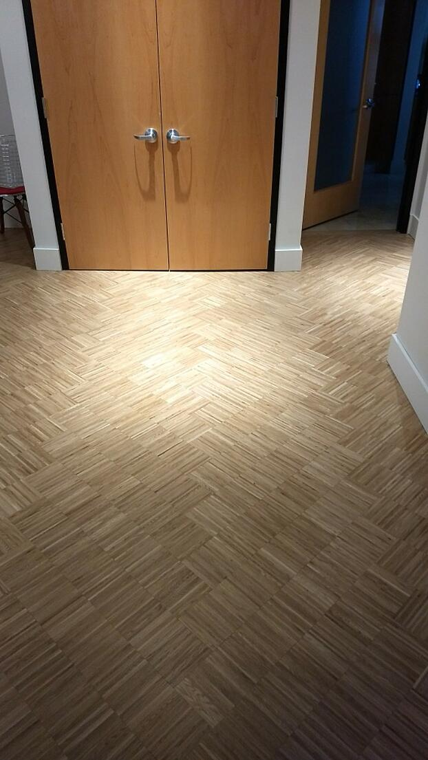 Zero Waste European White Oak Micro Strip on Floor 2