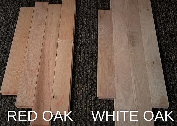 Red Oak and White Oak Color Difference