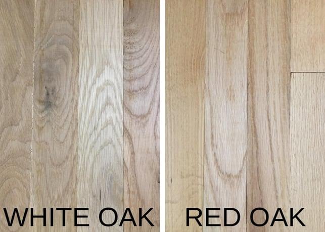 White Oak v/s Red Oak grain difference